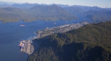 Prince Rupert Port close to Asian Markets