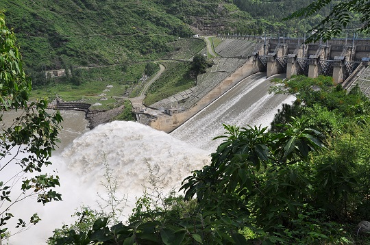 Hydroelectric power station in India