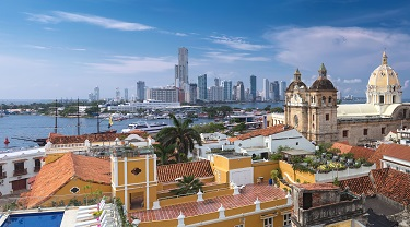 Historic Cartagena is a port city on Colombia's Caribbean coast
