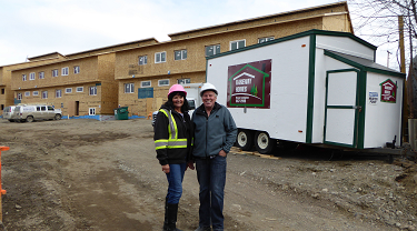 Kareway Homes owner Wayne Cunnningham and his wife Carol at their job site.