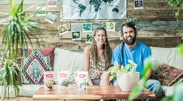Marie-Josée Richer and Alon Farber, owners of PRANA Biovegan