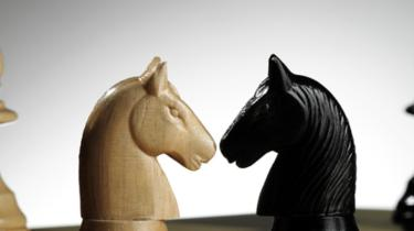 Chess pieces demonstrate there are many players when you're a business person selling internationally.