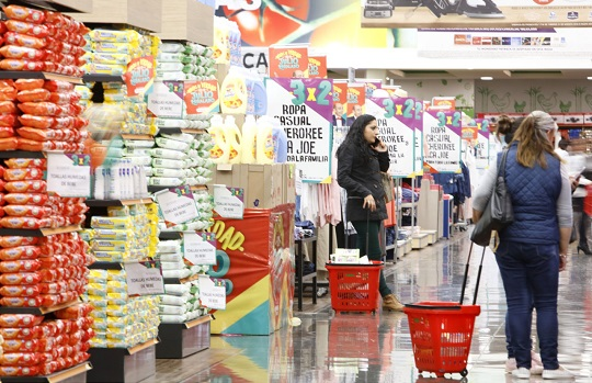 Shoppers inside Mexico's largest retailer, Soriana