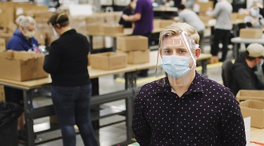 InkSmith CEO Jeremy Hedges stands on his factory floor.