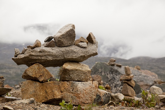 The Inukshuk is a symbol of hope, safety and friendship.