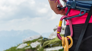 A photo of mountain climbing safety gear.