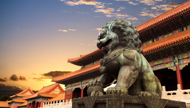 Beijing's Forbidden City at sunset