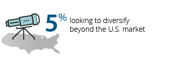 5% looking to diversify beyond the U.S. market